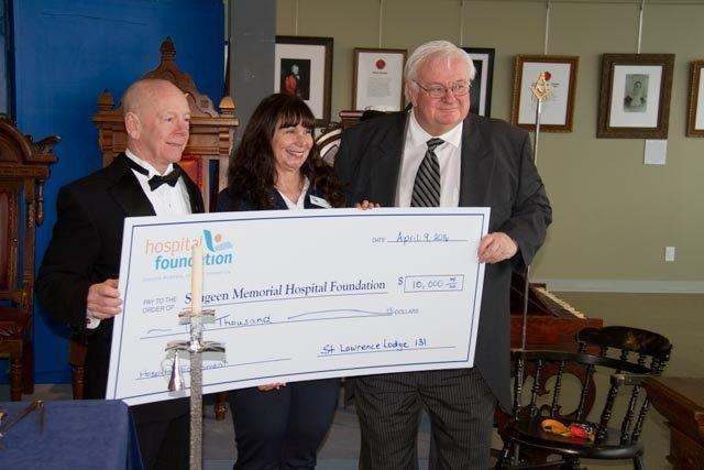 St. Lawrence Hospital Cheque Presentation